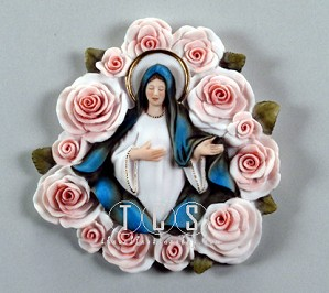 Giuseppe Armani-Madonna Of The Roses - Plaque