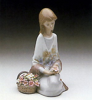 Lladro-Flower Song 1988-89 Society Piece 1988