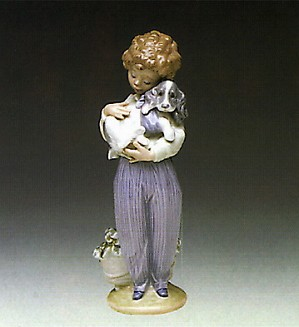 Retired Lladro-My Buddy 1989 Society Piece