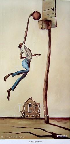 Ernie Barnes-High Aspirations-Unsigned