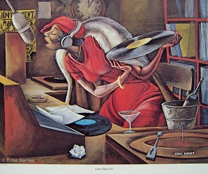 Ernie Barnes-Late Night Dj-Signed