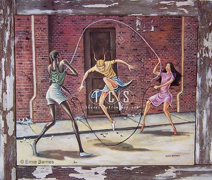 Ernie Barnes-Double Dutch-Signed