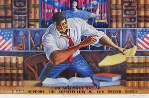 Ernie Barnes-The Advocate Signed