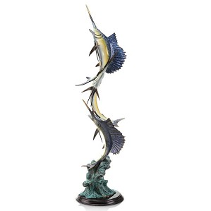 SPI Sculptures-Marlin and Sailfish Seascape