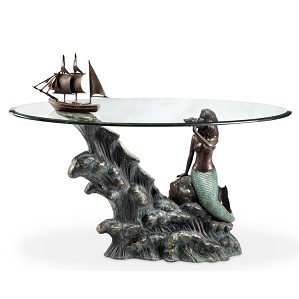 SPI Sculptures-Mermaid & Schooner Coffee Table