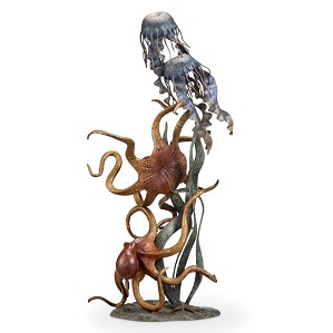 SPI Sculptures-Undersea Wonders Quartet (Octopuses and Jellyfish)