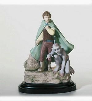 Lladro-Frodo & Gollum