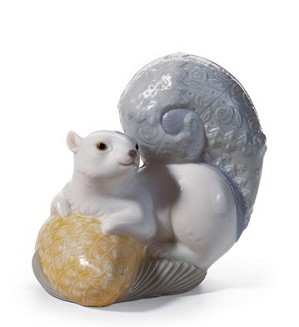 Lladro-Festive Squirrel I