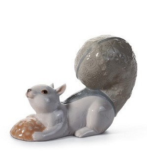 Lladro-Festive Squirrel IIi