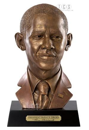 Ebony Visions-President Barack Obama Bust Presidential Edition
