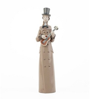 Lladro-Musician with Guitar
