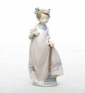 Lladro-Tending The Garden