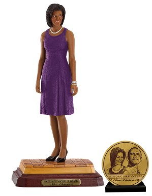 Ebony Visions-First Lady Michelle Obama Hand Signed Gallery Proof
