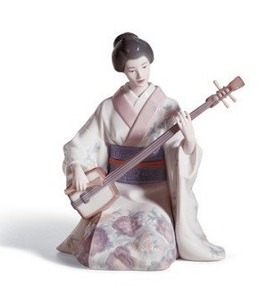Lladro-Shamishen Player