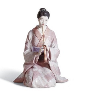 Lladro-Shakuhachi Player