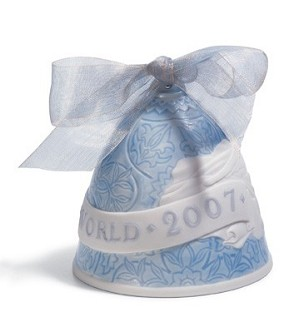Lladro-Christmas Bell 2007 Ornament
