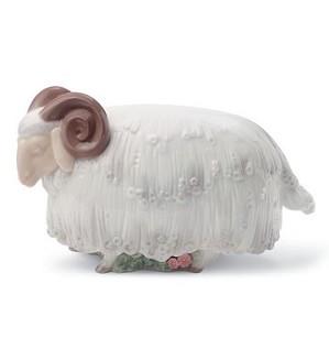 Lladro-Ram In The Meadow