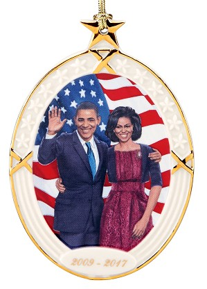 Ebony Visions_President Obama & The First Lady Ornament by Lenox