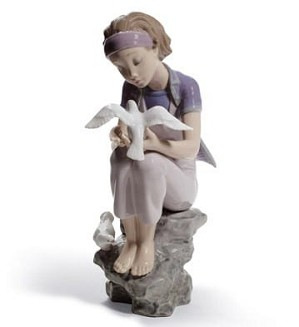 lladro Gres-Playing with Doves