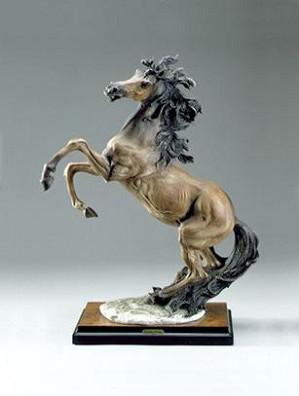 Giuseppe Armani-Rearing Horse Signed By Giuseppe Armani