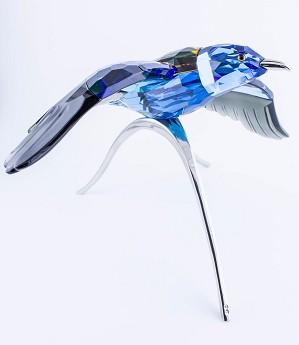 Swarovski Crystal-Blue Roller, Paradise Bird, Turquoise