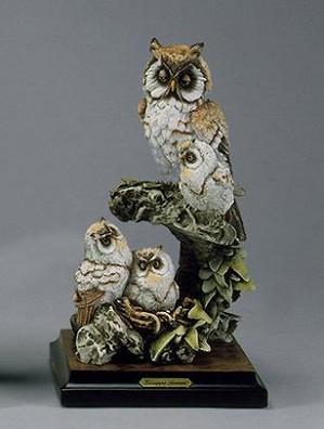 Giuseppe Armani-Owls In Nest