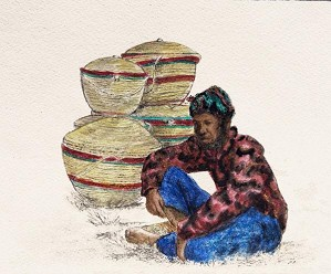 Gamboa-Basket Vendor In Blue