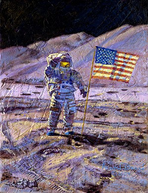 Alan Bean-Jim Irwin Indomitable Astronaut Limited Edition Canvas