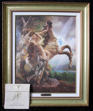 Giuseppe Armani-Embrace Canvas Transfer Framed