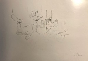 Giuseppe Armani-Original Concept Art for Disneyana Convention Goofy