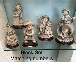 Giuseppe Armani-Gullivers Children Terra Cotta Matched Set (Rare)
