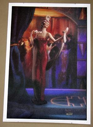 Giuseppe Armani-Lady with Compact Canvas Transfer