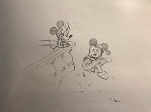 Giuseppe Armani-Original Concept Art for Disneyana Convention Mickey and Minnie