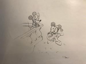 Giuseppe Armani-Original Concept Art for Disneyana Convention Mickey and Minnie
