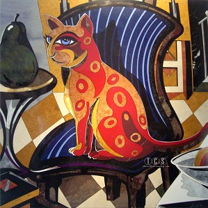 Leonardo Hildalgo-The Red Cat