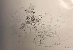 Giuseppe Armani-Original Concept Art for Disneyana Convention Uncle Scrooge