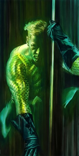 Alex Ross-SHADOWS WONDER AQUAMAN PRINTERS PROOF