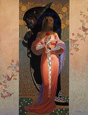 Thomas Blackshear Greenwich-Beauty And The Beast, Limited Edition Canvas