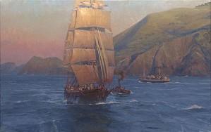 Christopher Blossom-Sunrise in the Golden Gate Down Easter Benjamin F. Packard MASTERWORK EDITION ON