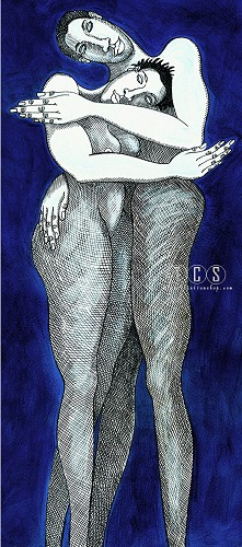 Charles Bibbs-Blue Passion - Giclee