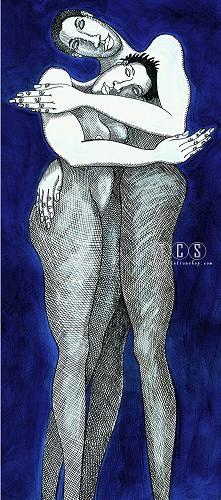 Charles Bibbs-Blue Passion - Giclee