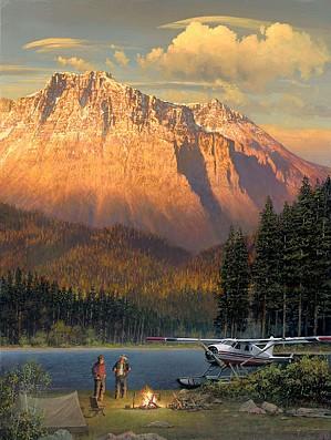 William Phillips-Fish Tales at Beaver Camp