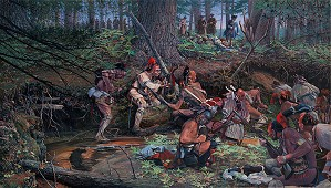 John Buxton-Ambush 1725 at Lovewell Pond