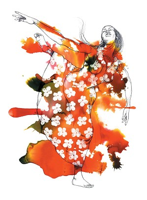 Larry Poncho Brown-Blooming Beauty Giclee S/n 62