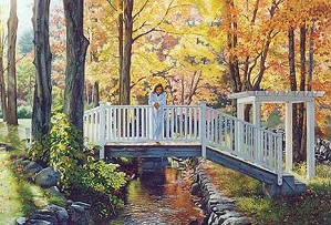 Tom Sierak-Bridging The Seasons Canvas Giclee