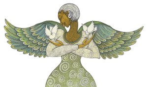 Charles Bibbs-Angel Of Peace Giclee