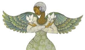 Charles Bibbs-Angel Of Peace Giclee