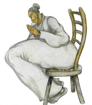 Charles Bibbs-Big Mamas Prayer Giclee Artist Proof with Remarque
