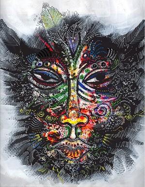 Charles Bibbs-Mask Number 2 Collaboration with Sabrina Gibson
