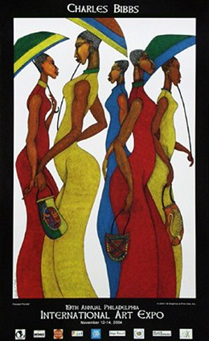 Charles Bibbs-Parasol Parade Poster